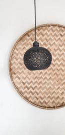 Kokos hanglampje zwart