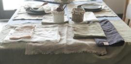 Linnen hand/theedoek 45x70cm naturel beige