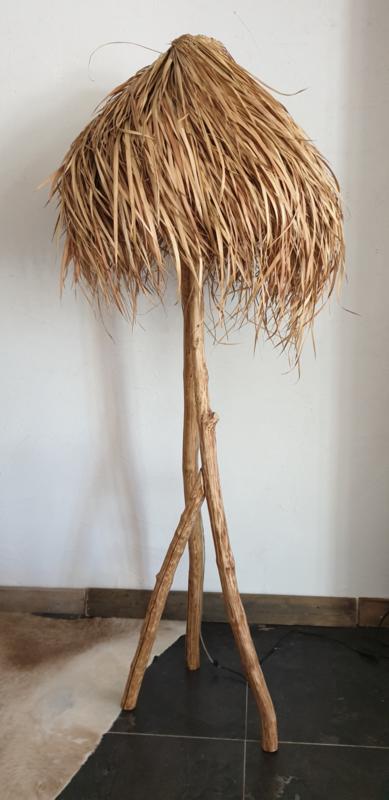Raffia staande lamp