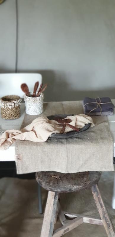 Linnen placemat rustic, 37x50cm naturel beige