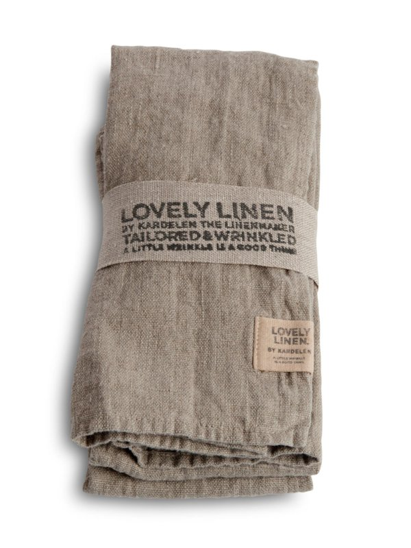 Linnen gastendoekje / servet 45x45cm naturel beige