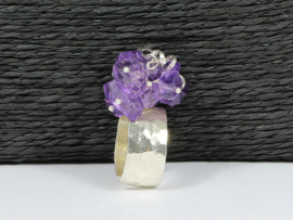 ring zilver met lichte amethist