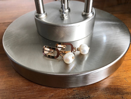 oorbellen met clips en parel