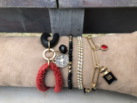 set armbanden zwart rood