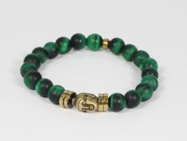 armband elastisch groene tijgeroog