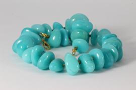 collier kort jade baby blue