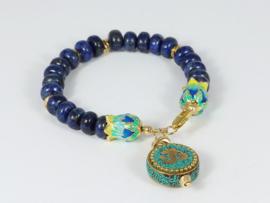 armband met lapis lazuli en goud