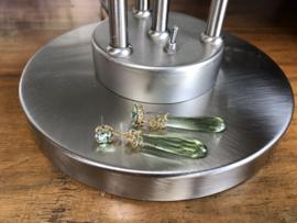 oorbellen goud met hydro quartz amethist groen