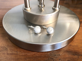 oorbellen zilver met klapcreolen en witte howliet