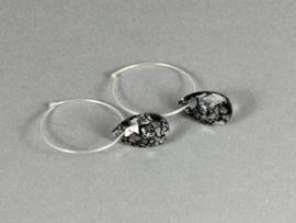 oorbellen zilveren creolen met swarovski elements