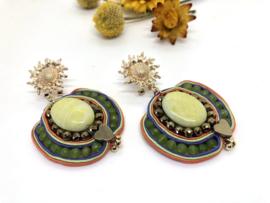 oorbellen soutache met jade