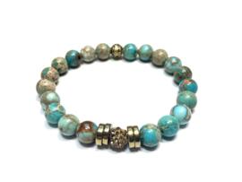 armband imperial jaspis blue