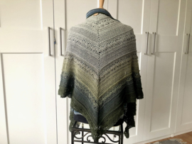 omslagdoek - sjaal grijs groen