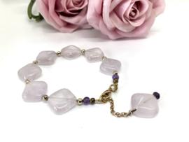 armband met lila amethist
