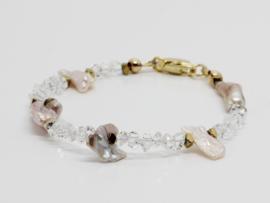 armband herkimer diamant en keshi parels