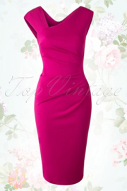 oorbellen lang rosegoud swarovski fuchsia roze