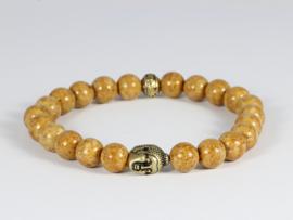 heren armband met jade en bronzen buddha
