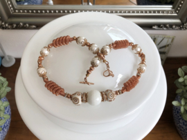 collier romantisch met shell parels