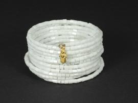 armband wikkel ivoorwit