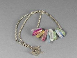 collier bergkristal en zilver