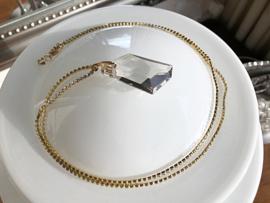 collier lang kristal met swarovski hanger