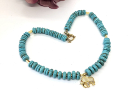collier turquoise howliet