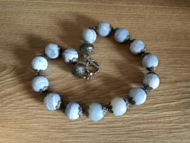 collier met blue lace agaat