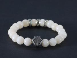 armband met edelsteen jade lichtroze
