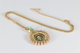sieraden set goud swarovski en kristal