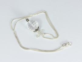 collier zilver met bergkristal