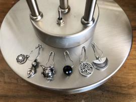 steekmarkeerders zilver met onyx - steenbok
