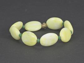 armband met lemon jade en groen kristal