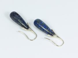 oorbellen zilver met lapis lazuli