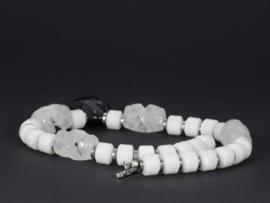 collier exclusief met witte agaat