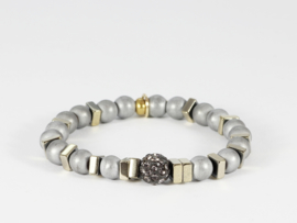 armband dames hematiet zilver grijs