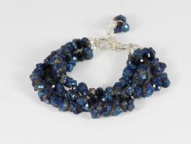 Armband blauwe titanium kwarts
