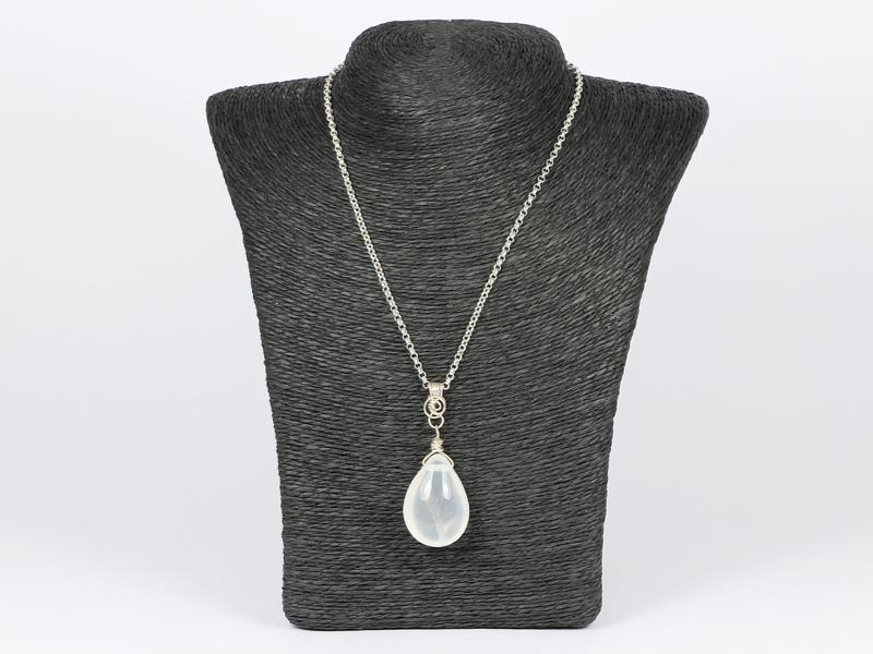 collier zilver met girasol hanger