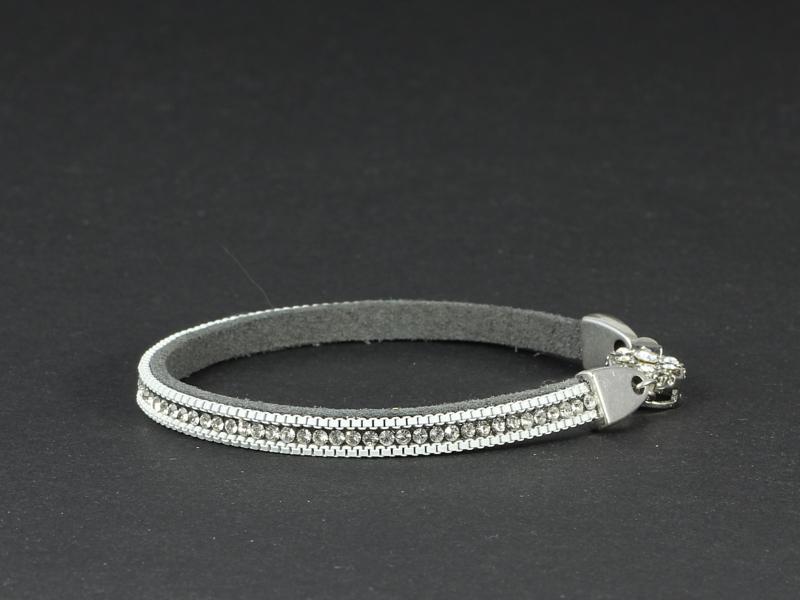armband suède met kristal