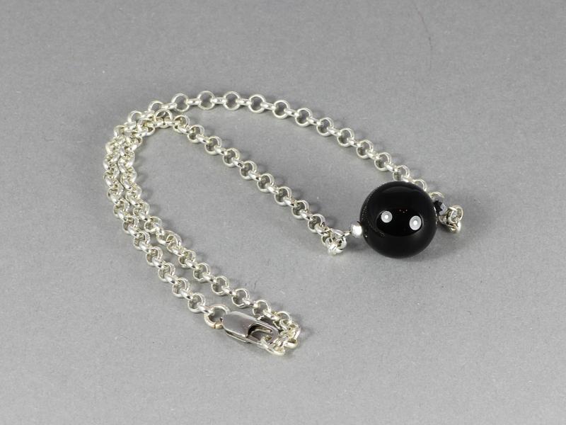 collier zilver met onyx