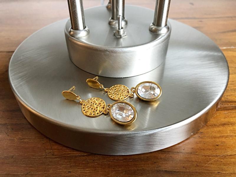 sieradenset goud me swarovski helder