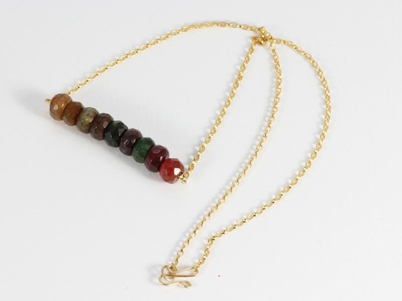 collier minimalistisch goud met vuuragaat