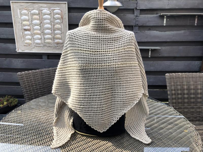 omslagdoek / sjaal zand
