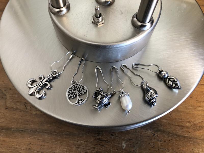 steekmarkeerders zilver met pareel - tweeling