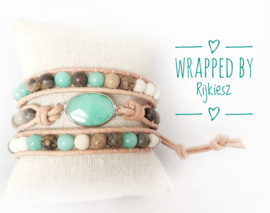 Aquamarine gemstone wrap