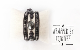 Larvikite gemstone wrap