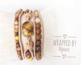 Tiger eye gemstone wrap
