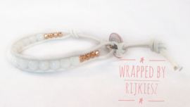 White rosé gold wrap