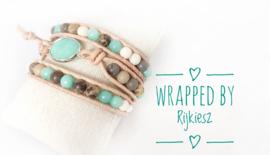 Aquamarine gemstone wrap