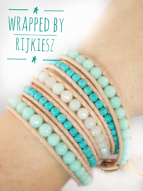 Turquoise wave wrap