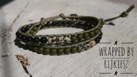 Army natural green wrap